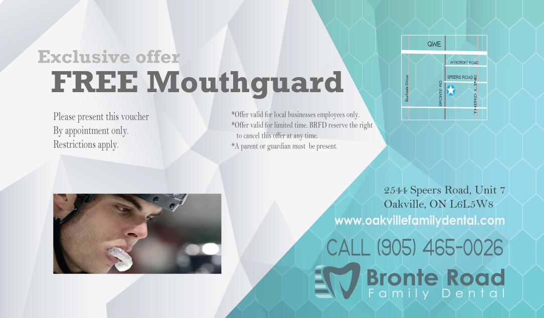 free mouthguards oakville